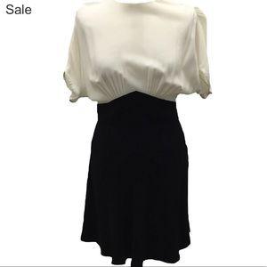MIU MIU BLACK-WHITE DAY DRESS